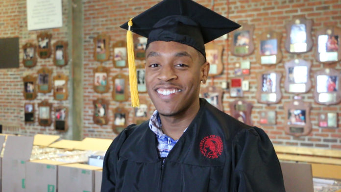 Jalen Townsend became a father at age 15 and served three tours of duty in the U.S. Army, but that didn't stop him from earning his degree from UofL.