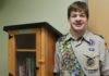Michael Siebert donated two Little Free Libraries to waiting rooms at UofL Hospital as part of an Eagle Scout project.