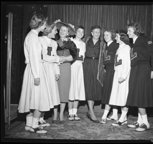 UofL cheerleaders, 1959. Photo courtesy of UofL Archives and Special Collections.