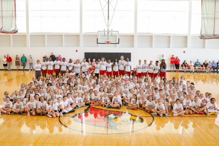 Participants from this year's Women's Basketball Camp.